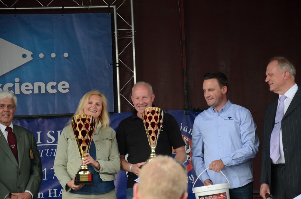 remise des prix à Mme et Mr Filip Poppe
